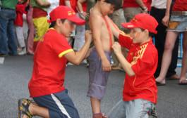 Pantalla gigante para ver a 'La Roja' en el Palacio de los Deportes