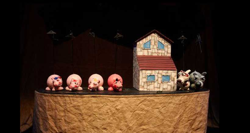 Planes para muy peques: 'Los tres cerditos', de Teatro Arbolé, en Ventosa