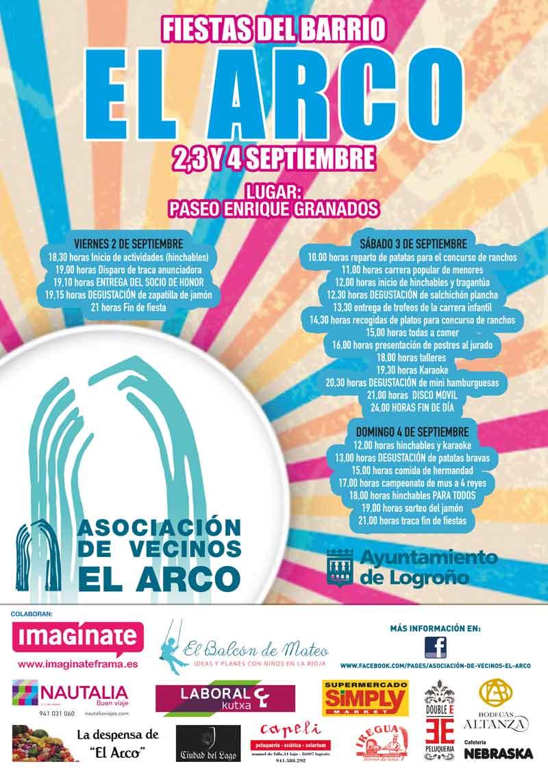 cartel-programacion-Fiestas-barrio-El-Arco-septiembre-2016