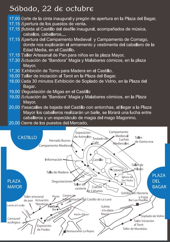 Programa XI jornadas medievales Cornago Sábado 21 2016
