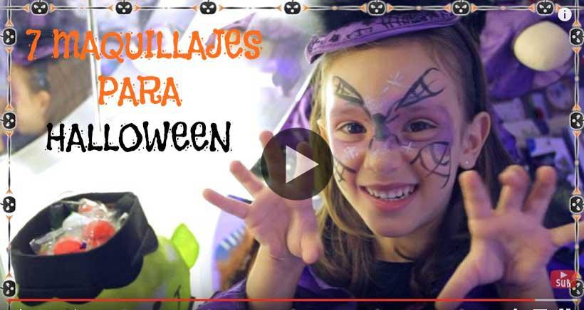 Especial Halloween 7 maquillajes fciles para nios en vdeos