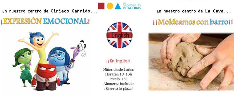 Talleres en inglés para niños desde 2 años en El Secreto de Pitágoras