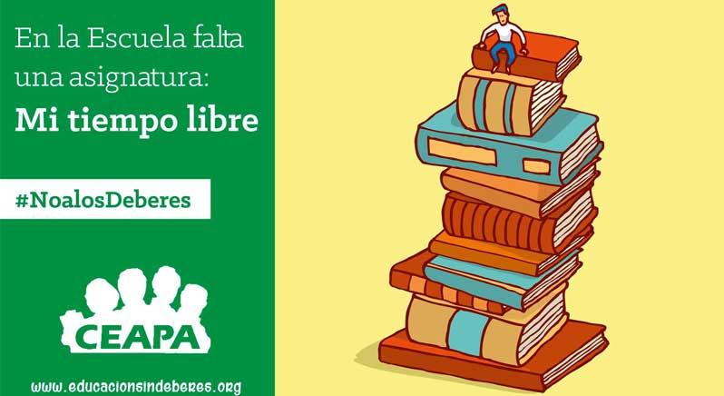 #noalosdeberes, campaña de las Asociaciones de Padres para mostrar su rechazo a los deberes