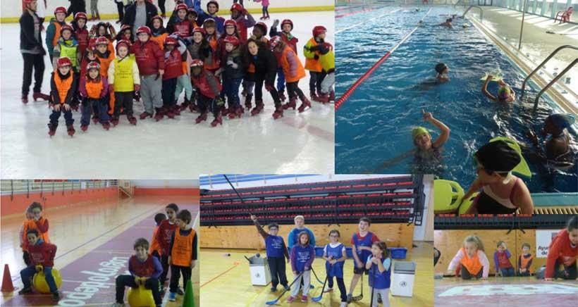 Juegos, piscina y patinaje en el campamento de Navidad de YMCA