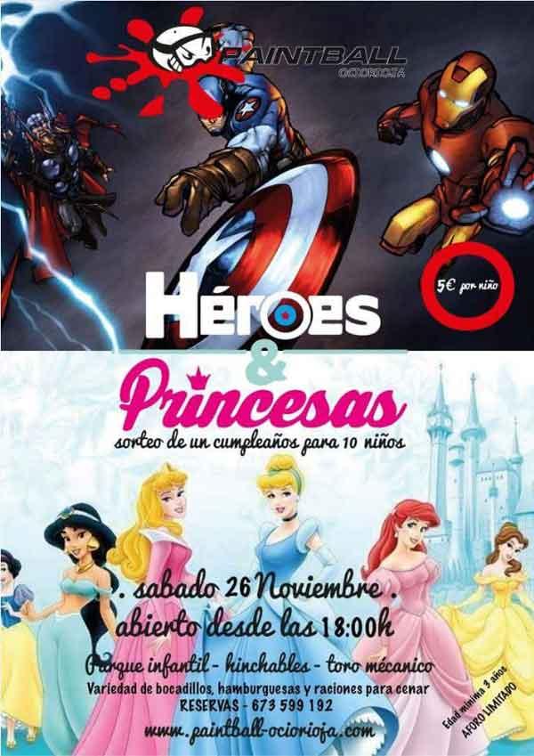 Fiesta-princesas-y-superheroes-en-Paintball-ocio-Rioja