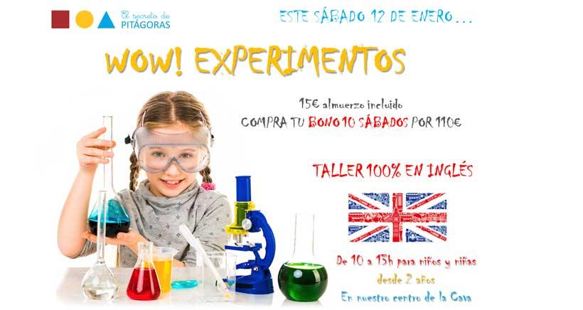 Taller de slime y experimentos en inglés