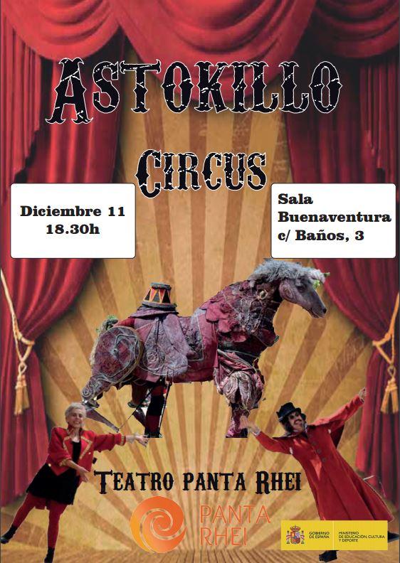 Cartel Astokillo Circus en Logrono