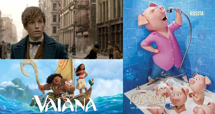 Cartelera de cine infantil para Año Nuevo