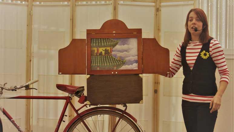 Cuentos Kamishibai, en las actividades para niños en Las Cañas