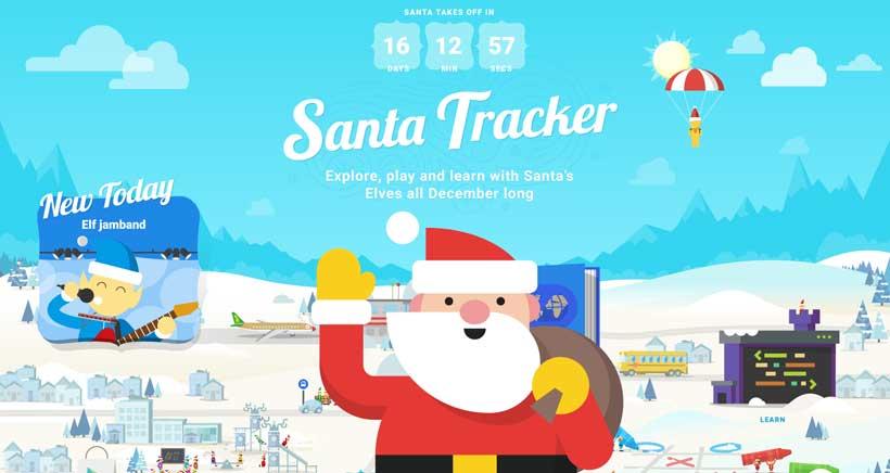 Google Santa Tracker, juegos online con temática navideña