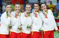 El equipo olímpico de gimnasia rítmica ofrece una exhibición en Logroño