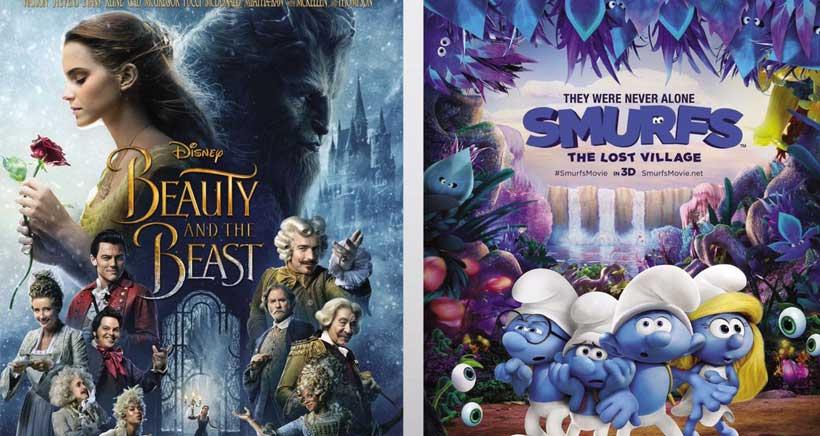 Películas para niños en inglés en Cines 7 Infantes: La Bella y la Bestia y Los Pitufos