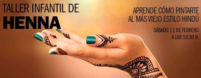 Taller infantil de henna en Parque Rioja
