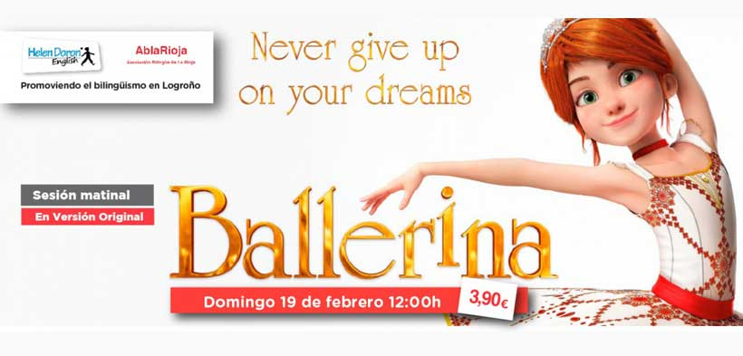 Cine para niños en inglés en Cines 7 Infantes: Ballerina