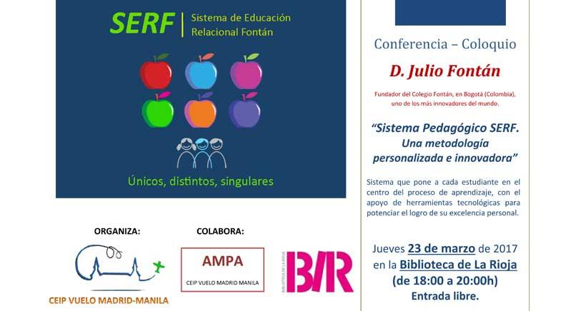 Julio Fontán, fundador de uno de los colegios más innovadores del mundo, en Logroño