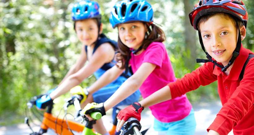 Gymkana ciclista para niños en La Vuelta a La Rioja