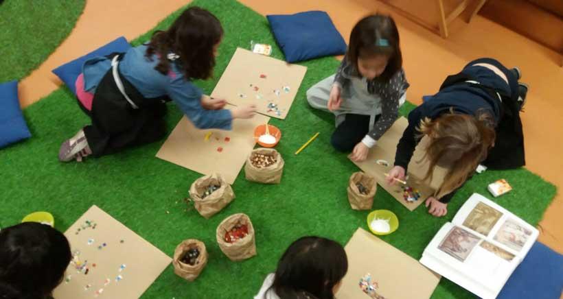 Mes del mosaico en las actividades infantiles del Museo Vivanco