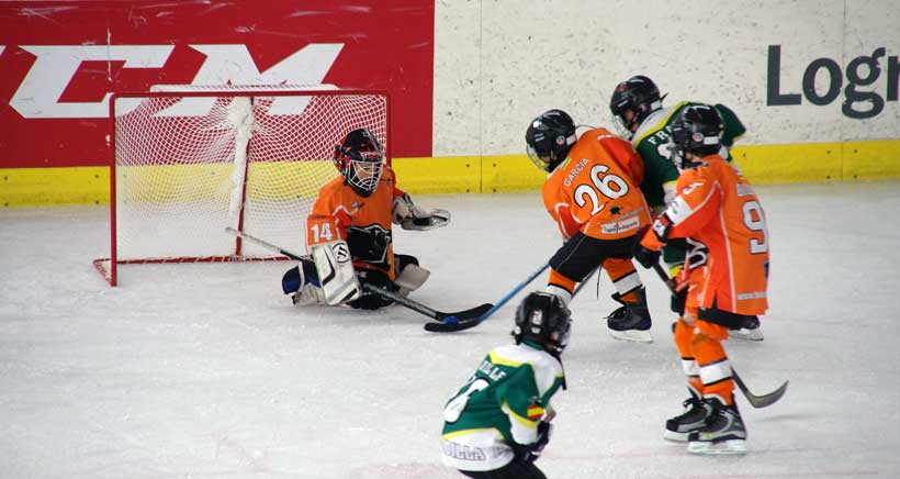 Festival infantil de hockey hielo sub10 en Logroño