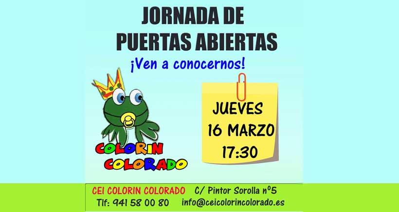 ¿Buscas guardería? Jornada de puertas abiertas en CEI Colorín Colorado