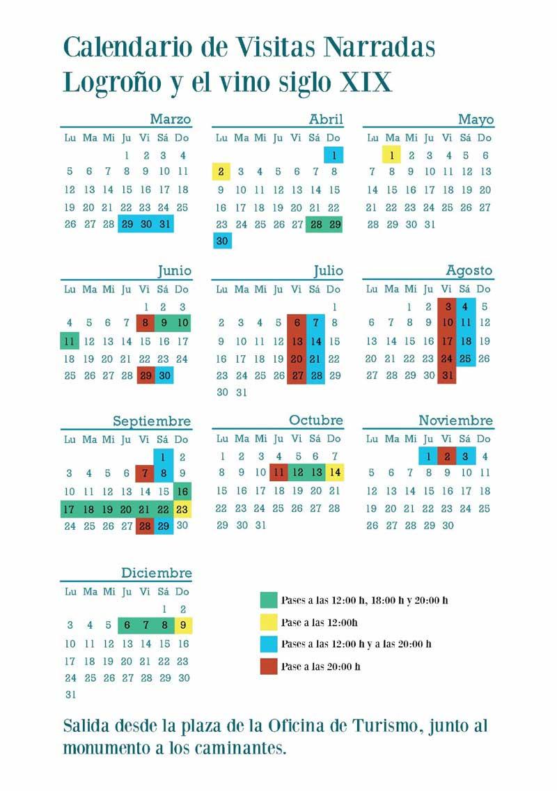 Calendario-visitas-Logrono-caminos-del-vino-2018