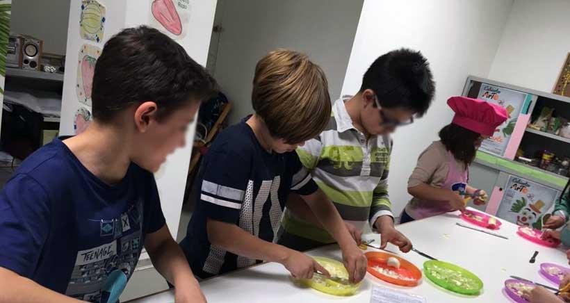 Talleres infantiles de cocina en la Plaza de Abastos
