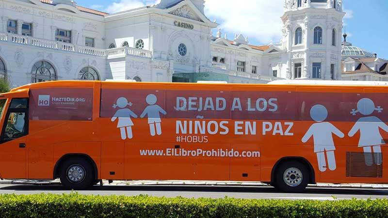 El autobús de HazteOír llega a Logroño