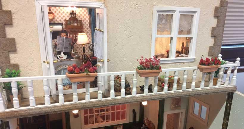Exposición de casas de muñecas en Nalda