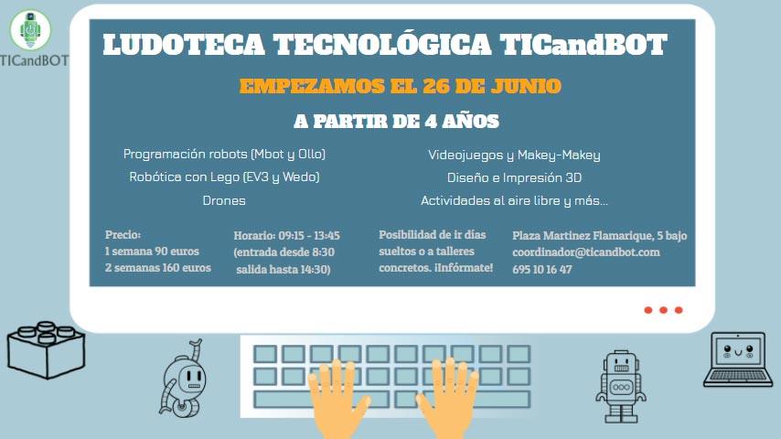ludoteca-verano-robotica-Logrono-Tic-and-Bot