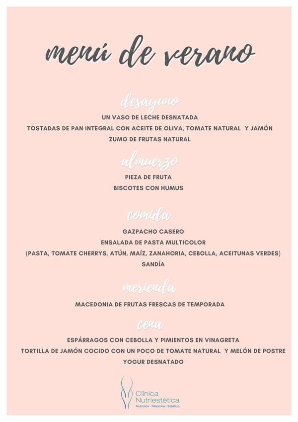 menu-de-verano-Clinica-Nutriestetica