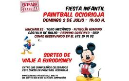 Fiesta infantil y sorteo del viaje a Eurodisney en Paintball OcioRioja