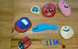 Las piedras cobran vida en los talleres infantiles de La Grajera