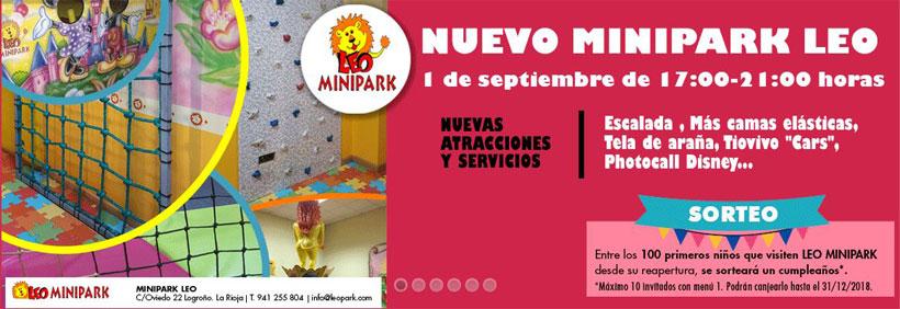 El renovado Minipark Leo abre sus puertas y sortea una fiesta de cumpleaños