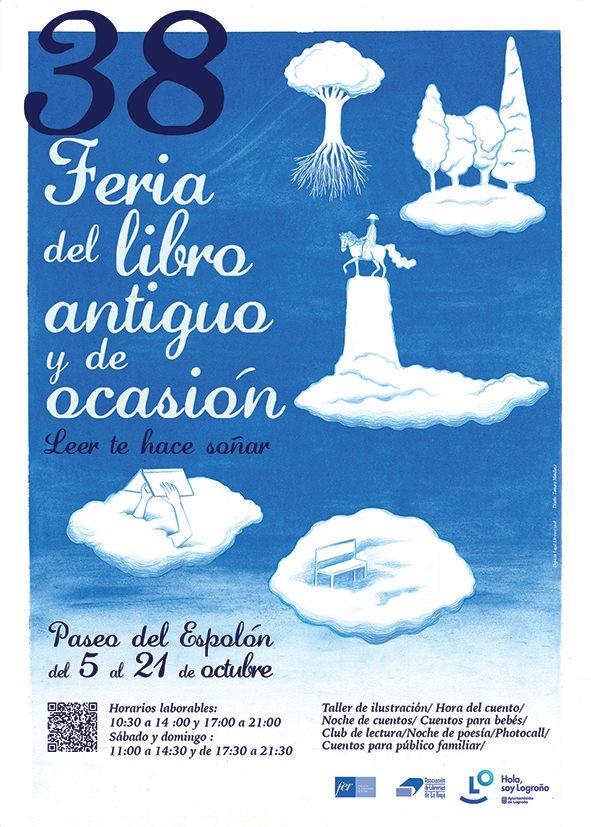 Feria del libro de Logrono cartel 2018
