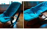 Se vende: hamaca azul para bebé