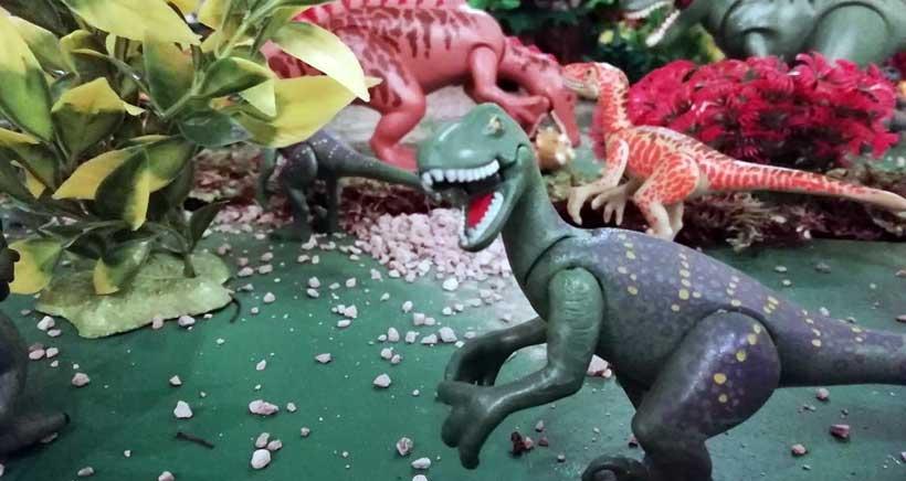 Los dinosaurios de Playmobil protagonizan el belén de Santo Domingo