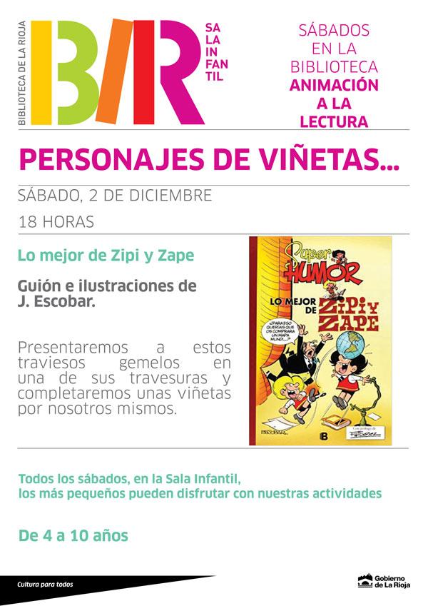 cartel-personajes-de-viñetas-biblioteca-de-la-rioja