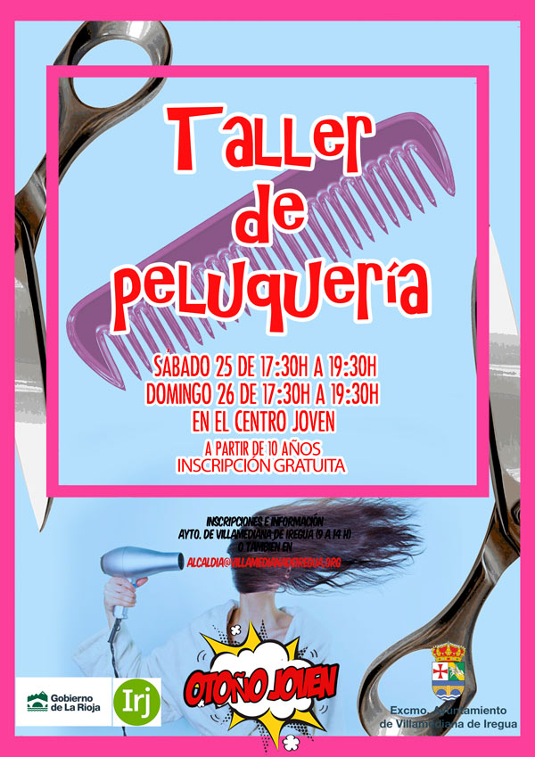 cartel-taller-de-peluqueria-centro-joven-villamediana