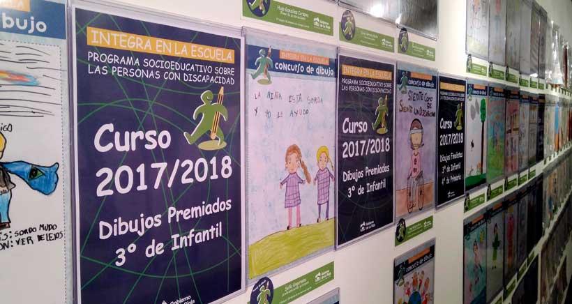 Exposición de dibujos infantiles sobre discapacidad