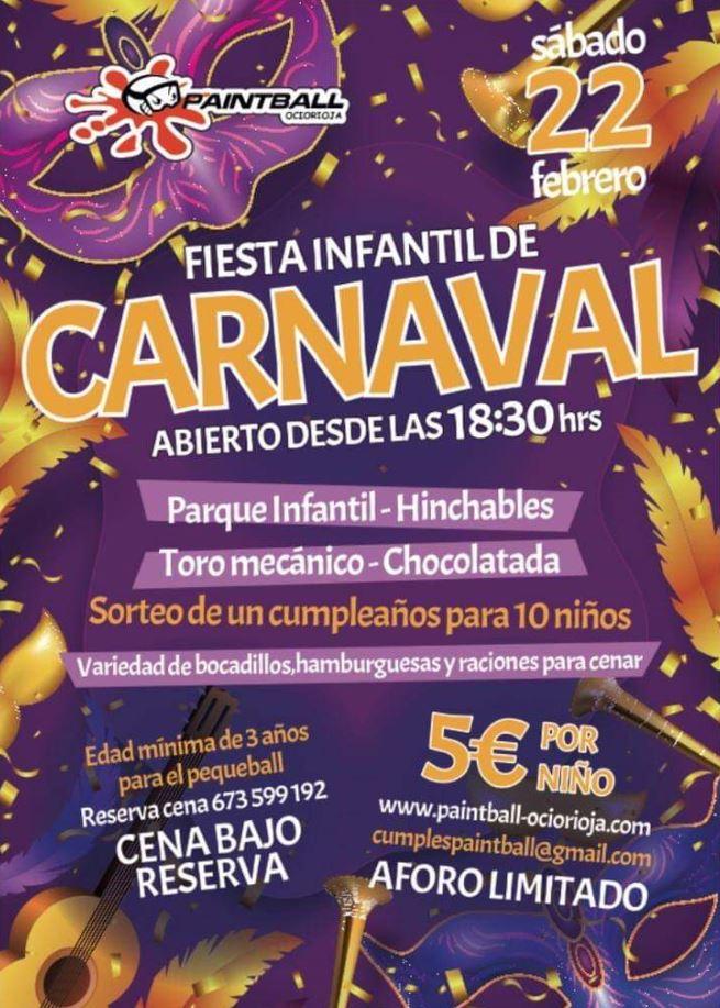 fiesta infantil carnaval paintball