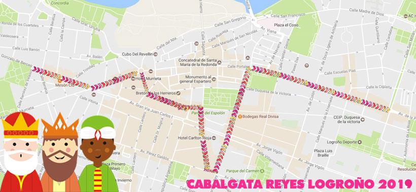 Así será la Cabalgata de Reyes de Logroño 2019 (horarios, recorrido…)