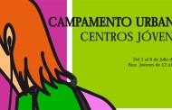 Campamento urbano en Centros Jóvenes con acampada en El Rasillo