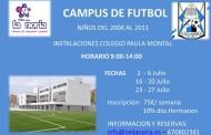Campus de fútbol para niños y niñas de 2007 al 2012