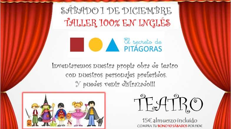 Taller de teatro en inglés en El Secreto de Pitágoras