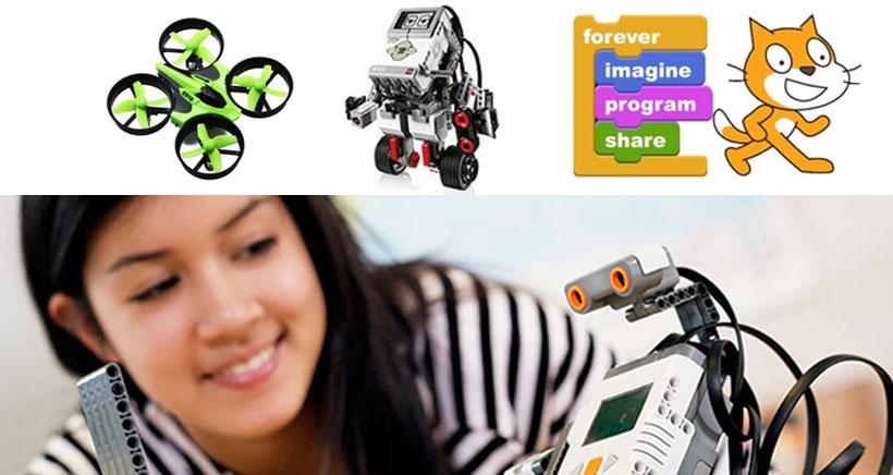 Drones, mecanografía, robótica Lego o informática escolar en Mecarapid