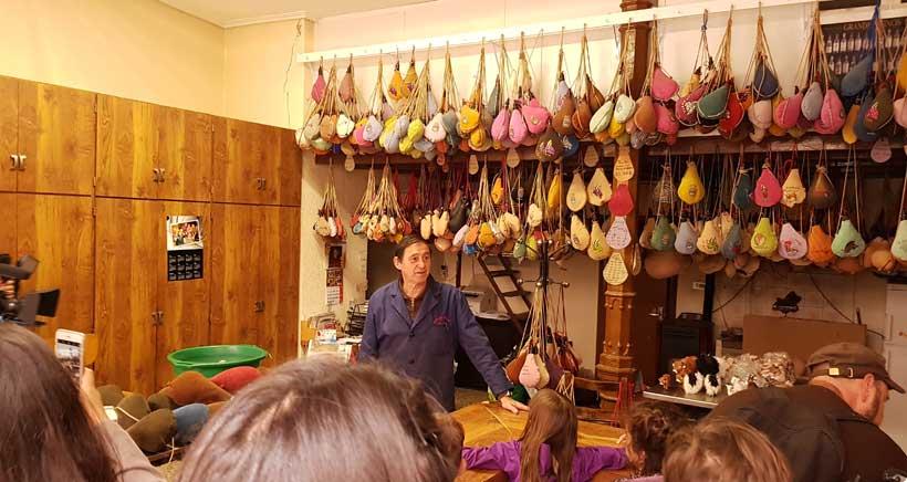 Botas Rioja en Logroño visita con niños