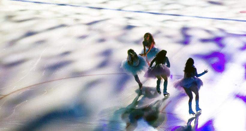 Halloween sobre hielo en la pista de Lobete