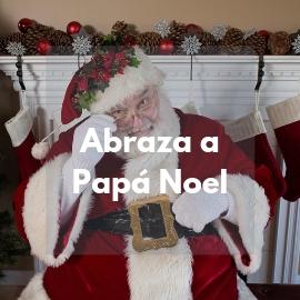 Abraza a Papa Noel en Logroño