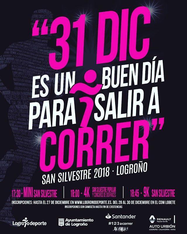 San Silvestre 2018 cartel Logrono
