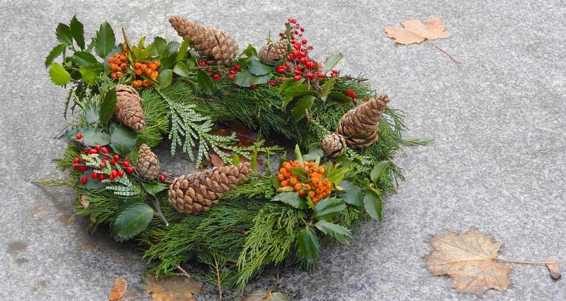 Adornos navideños 100% naturales en La Grajera