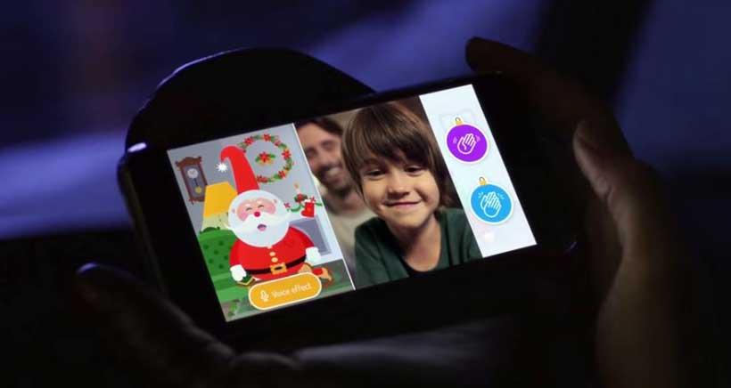 Cariño, Papá Noel vídeollamando